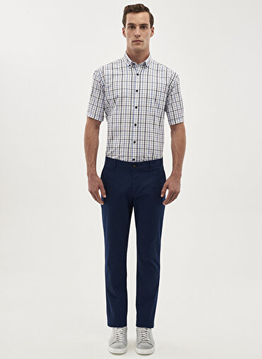 Erkek Kanvas Slim Fit Chino Pantolon