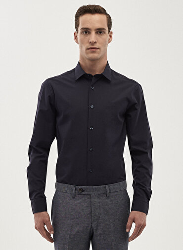 Erkek Tailored Slim Fit Klasik Gömlek