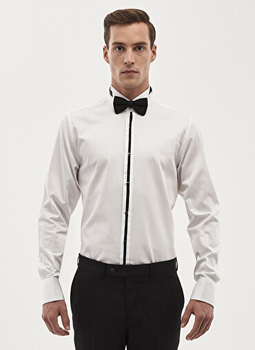 Erkek Damatlık Ata Yaka Tailored Slim Fit Gömlek