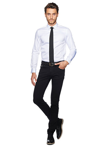Erkek Tailored Slim Fit Saten Gömlek