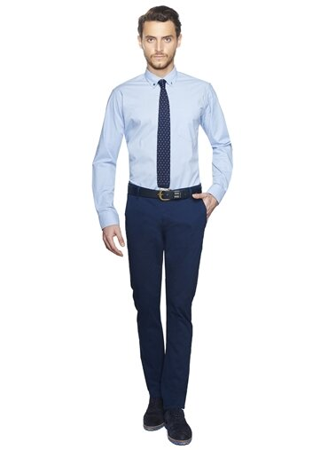 Erkek Ekstra Slim Fit Casual Pantolon