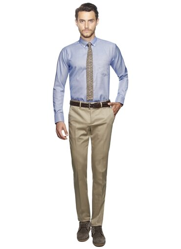 Erkek Slim Fit Non-Iron Pantolon