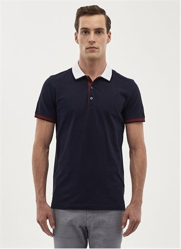 Erkek Slim Fit Polo Yaka T-Shirt